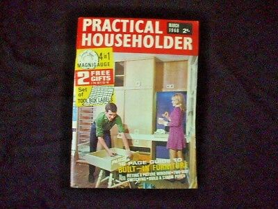 PRACTICAL HOUSEHOLDER  Magazine March 1968
