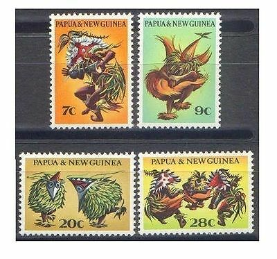 Papua New Guinea 1971 DANCERS (4) Unhinged Mint SG 208-11