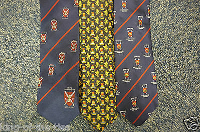 REDUCED TO CLEAR - 15 x Men's Ties - Latin Stripe Griffin Shield Heraldic *NEW*