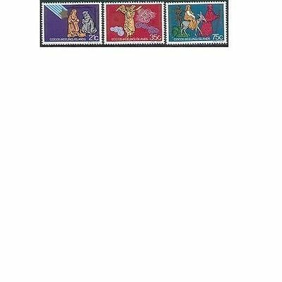 Cocos Islands 1982 CHRISTMAS (3), Unhinged Mint SG 100-102