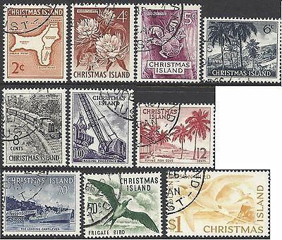 Christmas Island 1963 DEFINITIVES SET COMPLETE (10), FINE USED, SG11-20