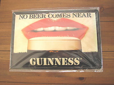 Guinness No Beer Comes Near Red Lipstick Pub Sign, Genuine Licensed Product