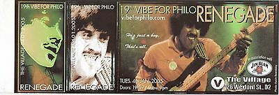 Phil Lynott Vibe For Philo Ticket19Th Rare Original Complete Unused 2005 Mintgem