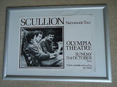 Scullion Gig Poster 1982 Vintage Original 35Yrs Old Rare Collectible Tour Poster