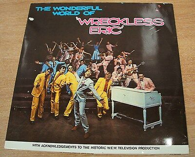 wreckless eric  the wonderful world of  portugese stiff  issue vinyl lp seez 9