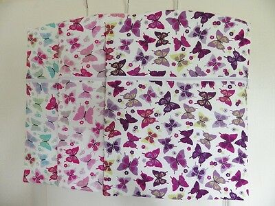"Hand Made Peg / Hanging Storage Bag Lined/Zipped 12½"" x 16"" : Butterfly"