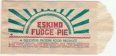 1940's-50's Eskimo Fudge Pie Chocolate Bar Bag Seale-Lily Jackson, Missippi