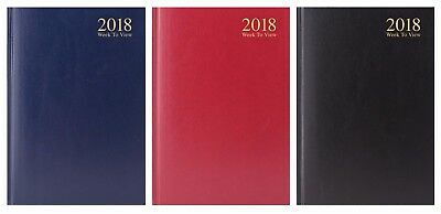 Hardback 2018 DIARY {Tallon} Day/Week to View - A6/A5/A4 (Organiser/Planner)