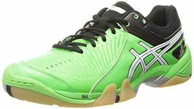 Asics Gel DOMAIN 3 Mens VOLLEYBALL TENNIS Shoes sz 13 NEW NEON GREEN WHITE BLK