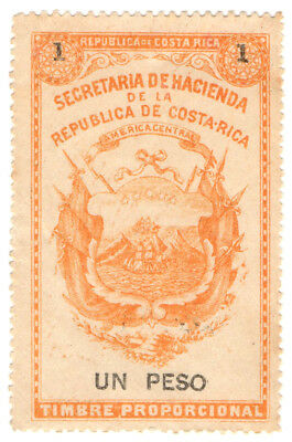 (I.B) Costa Rica Revenue : Duty Stamp 1P