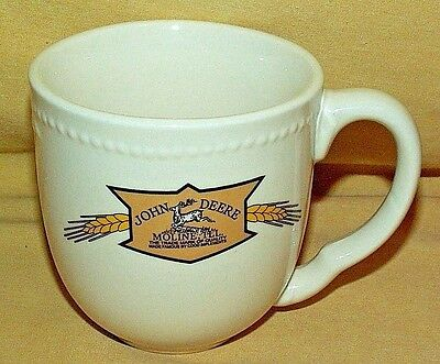 John Deere Mug Wheat Vintage Logo Embossed Trademark Quality Good Implements