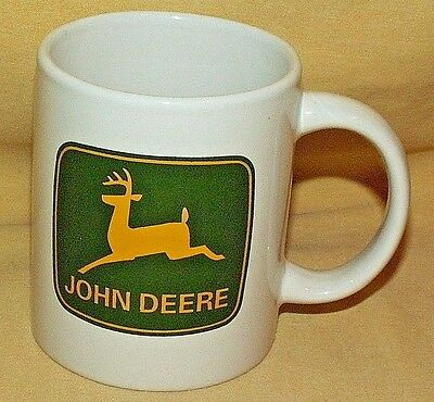 John Deere Mug Coffee Tea Cup Tractor Farm Equipment Gibson Logo Emblem Green