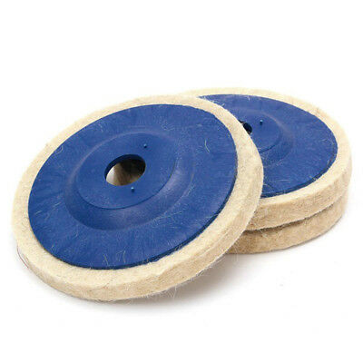"3pcs 100mm 4"" Wool Buffing Angle Grinder Wheel Felt Polishing Discs Pads Tools"