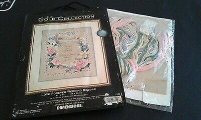 Dimensions Gold Collection Crewel Embroidery Kit - Love Forever Wedding Record