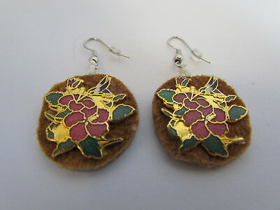 Earrings Made With Home Tanned Moose Hide, Traditional, Native Crafts, Pierced