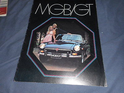 1973 MG MGB/GT USA Market Color Original Brochure Prospekt