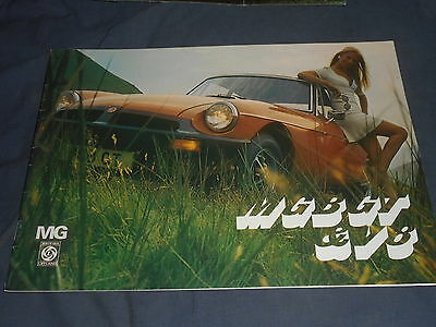 1975 MG MGB/GT and V8 UK Market Color Original Brochure Prospekt