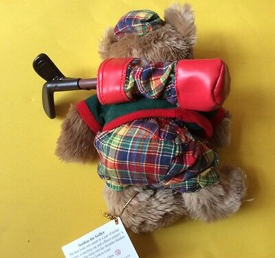 "SOFT TOY - THE TEDDY BEAR COLLECTION - ""GORDON THE GOLFER"". Approx 7.5"" TALL"