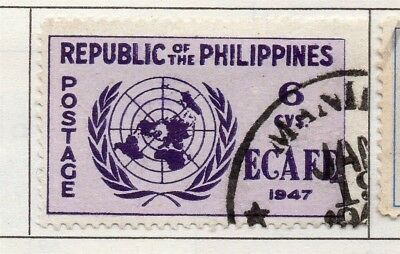 Philippines 1947-49 Early Issue Fine Used 6c. 173000