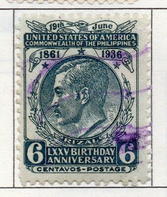 Philippines 1936-43 Early Issue Fine Used 6c. 173052