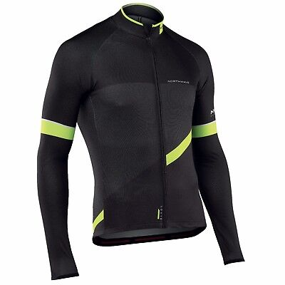 Long Sleeve T-shirt NORTHWAVE BLADE2 Black/Yellow Fluo/JERSEY northwave Blade2
