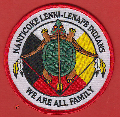 Nanticoke Lenni Lenape Indians We Are All Family Tribal Shoulder Patch