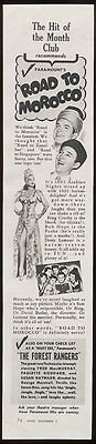 1942 Bob Hope Dorothy Lamour photo The Road to Morocco movie release ad