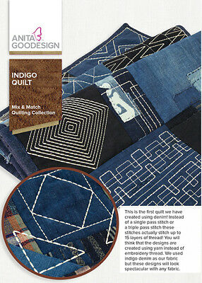 Indigo Quilt Anita Goodesign Embroidery Machine Design CD