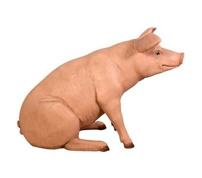 Pig Baby Pink Sitting Farm Animals Prop Display Countryside Theme Decor