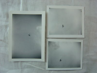 Vintage Photos Unusual View of Tiny Airplane Flying in Sky 809
