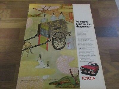 Toyota - Gissha - Honor Guards - Japanese -  Japan  1970 Print Ad