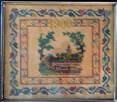 """1900"" KARIN ERZURUM Turkey ARMENIAN hand beaded needlework Embroidery/ Tapestry"