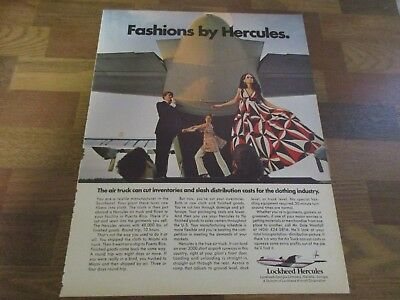 Lockheed Hercules - Air Truck - Clothing Industry - Fashion 1970 Print Ad