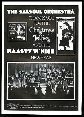 1976 Salsoul Orchestra photo Christmas Jollies album trade print ad