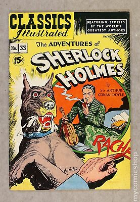 Classics Illustrated 033 Adventures of Sherlock Holmes (1947 #4A GD+ 2.5
