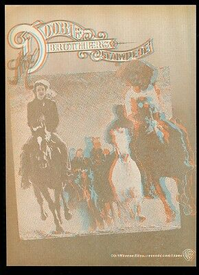 1975 The Doobie Brothers 3D 3-D photo Stampede album release vintage print ad