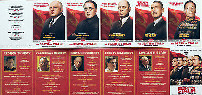 DEATH OF STALIN FILM POSTCARDS x 6 MICHAEL PALIN JASON ISAACS JEFFREY TAMBOR