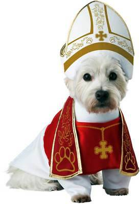 Holy Hound Bishop Pup-A-Razzi Dog Pope Miter Stole Robe Religious Costume Pet L