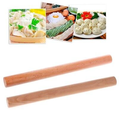 Solid Oak Beech Wooden Pastry Rolling Pin Tapered Rod Pasta Dough Bakery Roller