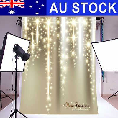 AU 5ftx7ft Christmas Starlight Photography Backdrop Background Photo Studio Prop