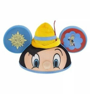 Disney Parks Pinocchio with Jiminy Cricket Mickey Icon Adult Ears Hat