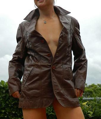 VINTAGE Design by Plannet 1960s-70s Original Boho Rocker Rugged Leather Jacket