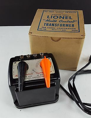 Lionel Type 1033 Multi-Control Transformer, 90 Watts Tested EUC