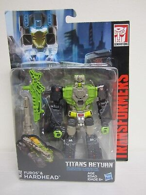 2017 Hasbro Transformers Deluxe Class Titans Return Furos And Hardhead Moc