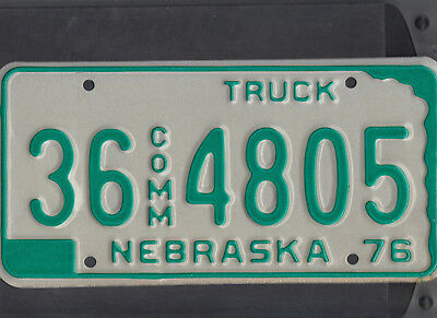 "NEBRASKA 1976 license plate ""36 4805"" ***HOLT***MINT***BICENTENNIAL***"