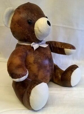 Seated Leather Effect Brown /& Cream Dog Doorstop Home Living by Juliana
