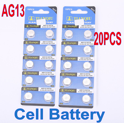 20X For WATCH Camera AG13 LR44 SR44 L1154 357 A76 Alkaline battery button cells
