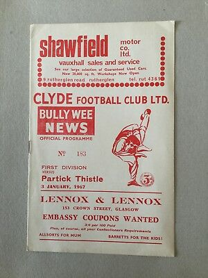 CLYDE v PARTICK THISTLE 1966/7.