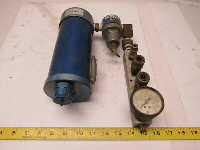 125 PSI Air Filter Regulator Distribution Center 4 Port Outlet
