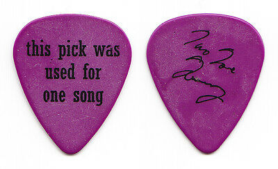 My Morning Jacket Two Tone Tommy Blankenship Signature Purple Tour Guitar Pick